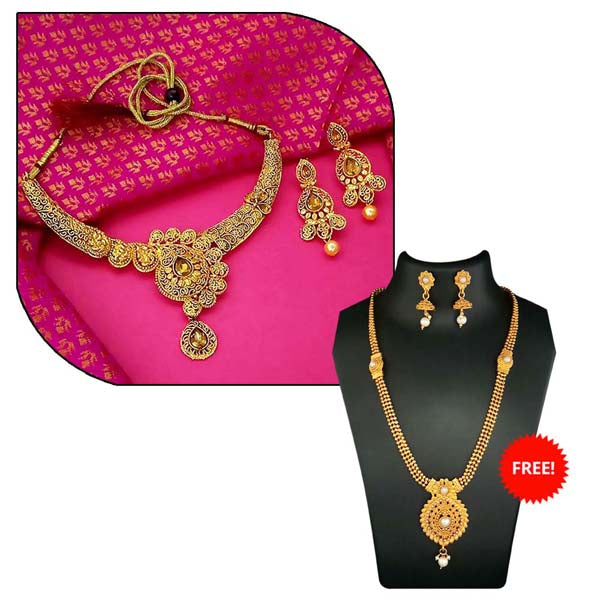 14Fashions Pack Of 2 Necklace Set Combo- 1004281