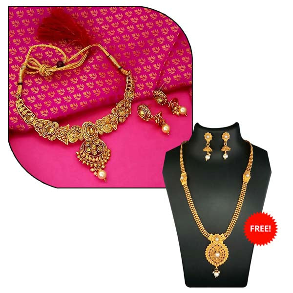 14Fashions Pack Of 2 Necklace Set Combo- 1004282