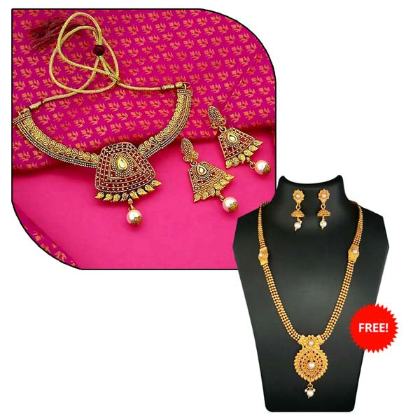 14Fashions Pack Of 2 Necklace Set Combo- 1004283