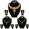 14fashions Pack Of 3 Gold Plated Necklace Combo -1004285
