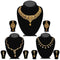 14fashions Pack Of 3 Gold Plated Necklace Combo -1004289