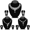 14fashions Pack Of 3 Silver Plated Necklace Combo -1004290
