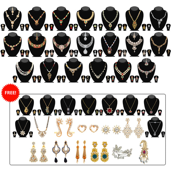 14Fashions New Year Special Pack Of 40 Jewellery Combo Set -1004297