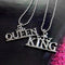 Urbana Couples Rhodium Plated King & Queen Pendant