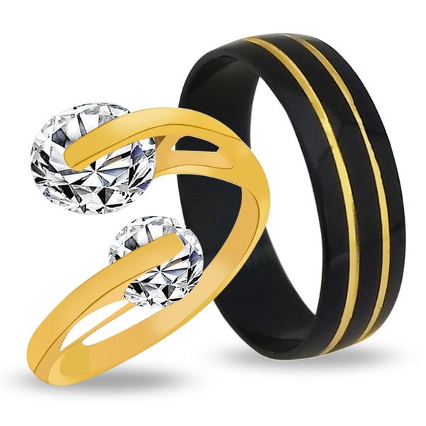 Urbana Adjustable Stylish Couple Rings