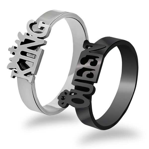 Urbana  His Queen Her King Couple Rings Set -1004381
