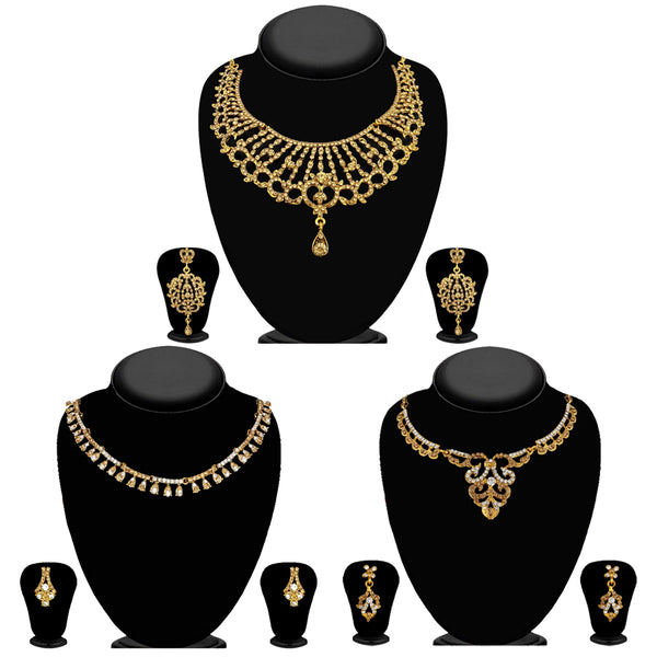 14Fashions Set of 3 Necklace set Combo