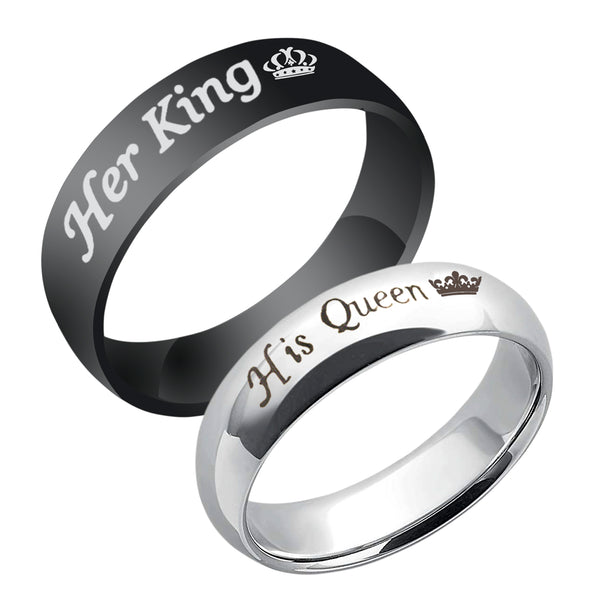 Urbana  His Queen Her King Couple Rings Set -1004601