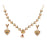 14Fashions Austrian Stone Gold Plated Necklace Set - Jewelmaze.com