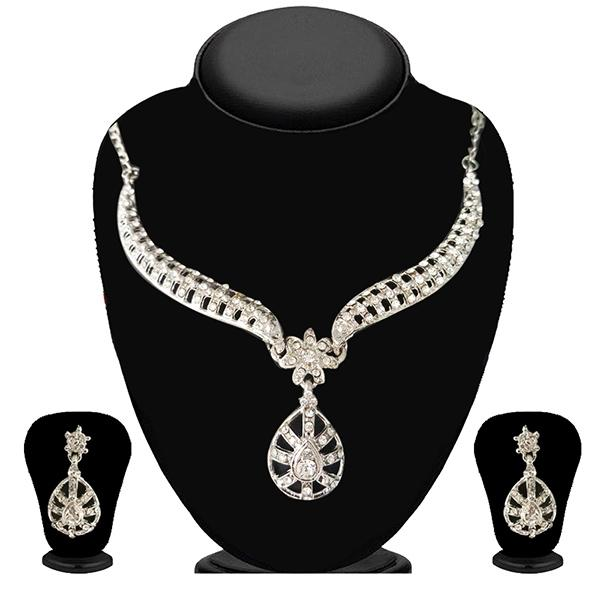 Soha Fashion Austrian Stone Rhodium Plated Necklace Set