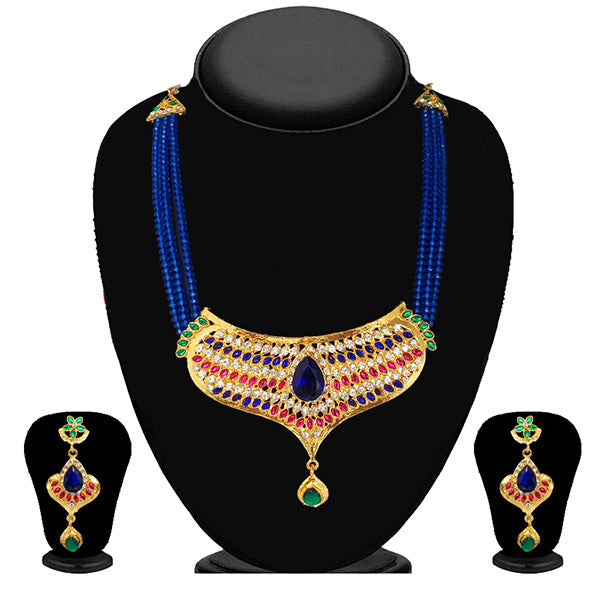 Soha Fashion Gold Plated Austrian Stone Necklace Set