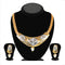 Soha Fashion Austrian Stone Gold Plated Necklace Set - 1101003 - ES