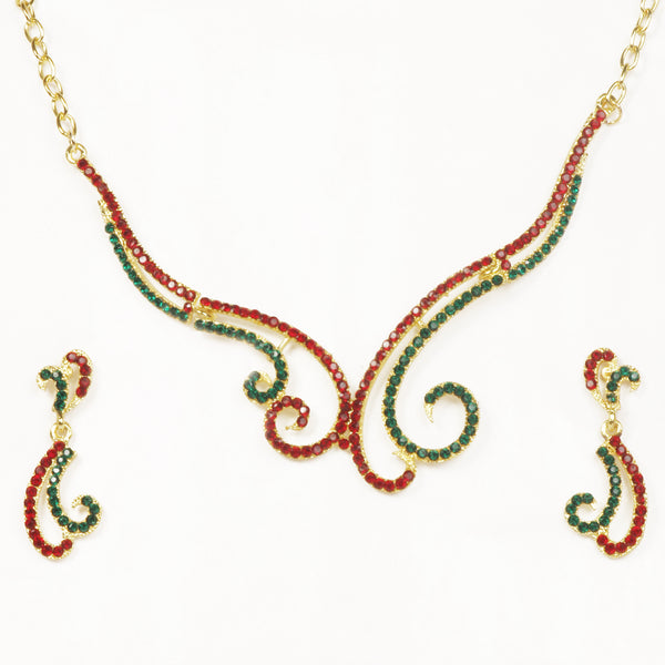 14Fashions Austrian Stone Gold Plated Necklace Set