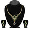 The99Jewel Green Stone Drop Gold Plated Necklace Set