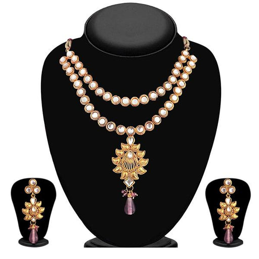 Soha Fashion Kundan Gold Plated Designer Necklace Set