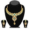 Soha Fashion Gold Plated Green Austrian Stone Necklace Set