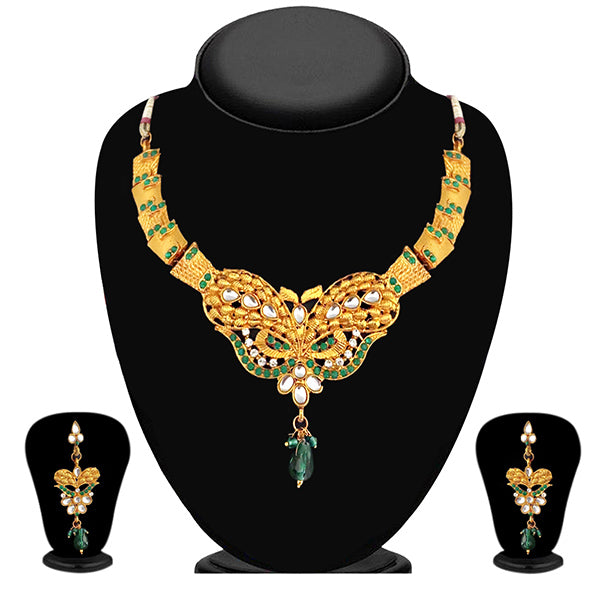 Soha Fashion Green Austrian Stone Necklace Set