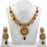 Soha Fashion Gold Plated Maroon Stone Kundan Necklace Set