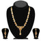 Soha Fashion Green Austrian Stone Gold Plated Necklace Set