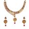 14Fashions Red Austrian Stone Gold Plated  Necklace Set