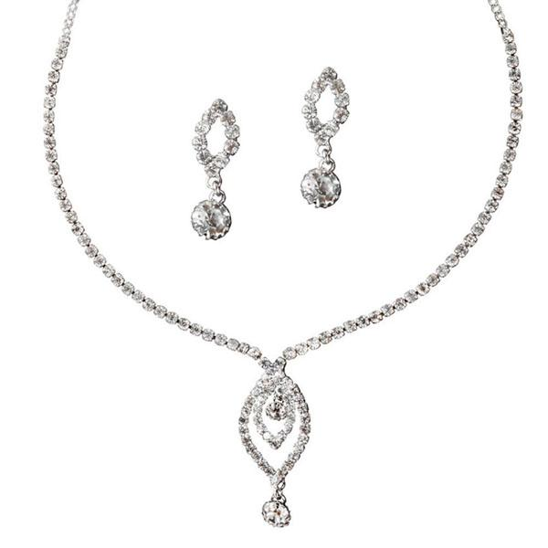 Eugenia Austrian Stone Rhodium Plated Necklace Set - NB