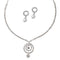 Eugenia Austrian Stone Rhodium Plated Round Shape Necklace Set