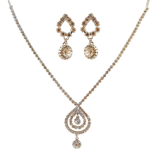 Eugenia Austrian Stone Rhodium Plated Necklace Set