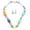 Beadside Multicolor Beads Rhodium Plated Necklace Set