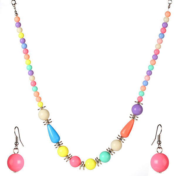 Cuteens Multicolor Beads Necklace Set