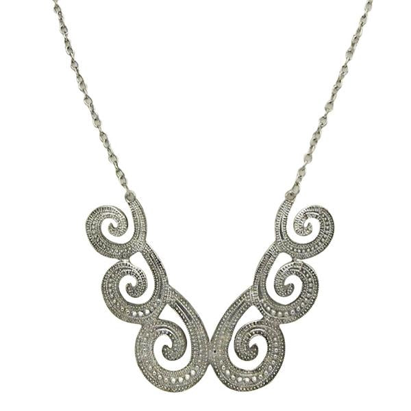 Jeweljunk Silver Plated Statement Necklace -1102624