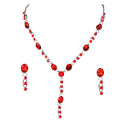 Urthn Austrian Stone Rhodium Plated Necklace Set