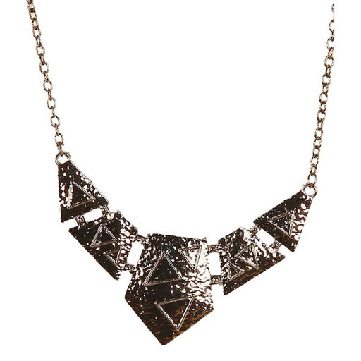 Jeweljunk Black Gold plated Statement Necklace