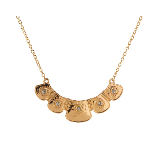 Jeweljunk Statement Gold Plated Necklace
