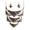 Jeweljunk Oxidised Statement Necklace Set