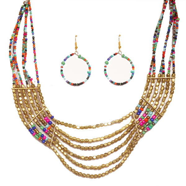Beadside Multicolor Beads Necklace Set