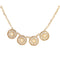 Urthn Beads Cutwork Gold Plated Necklace