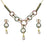 Kriaa Stone Pearl Drop Gold Plated Necklace Set