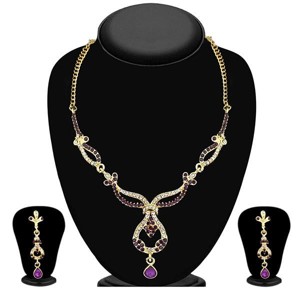 The99Jewel Gold Plated Austrian Stone Necklace Set - 1103904 - BS