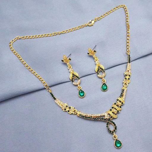 The99Jewel Green Austrian Stone Necklace Set - NB