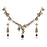 Kriaa Black Austrian Stone Drop Gold Plated Necklace Set