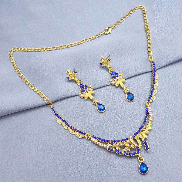 The99Jewel Blue & White Stone Necklace Set