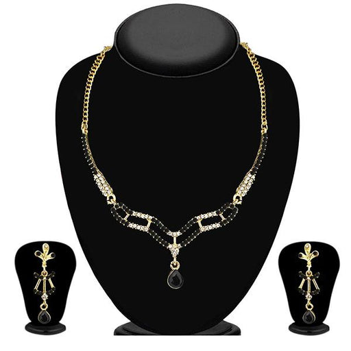 The99Jewel Black Austrian Stone Necklace Set - 1103943 - BS