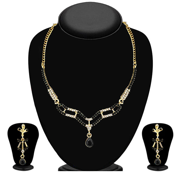 The99Jewel Black Austrian Stone Necklace Set