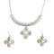Jeweljunk Trendy White Floral Design Necklace Set