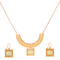 Kriaa Gold Plated  Statement Necklace Set