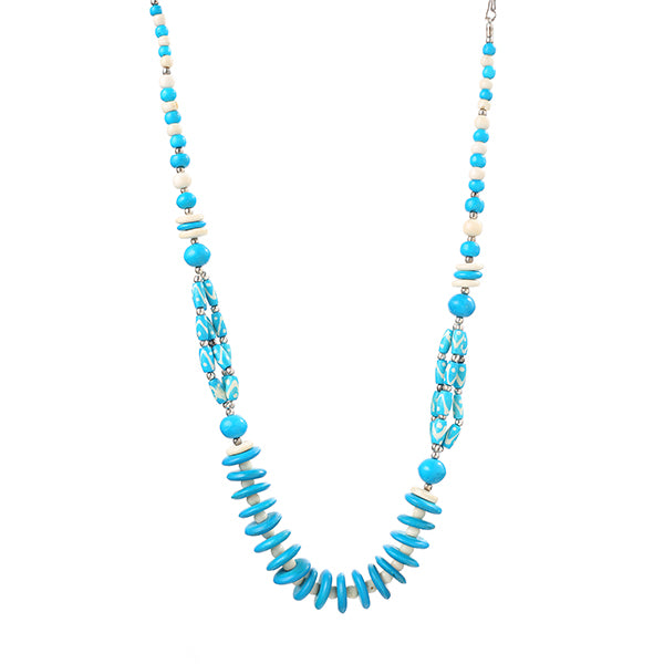 Beadside Blue Beads Fusion Necklace