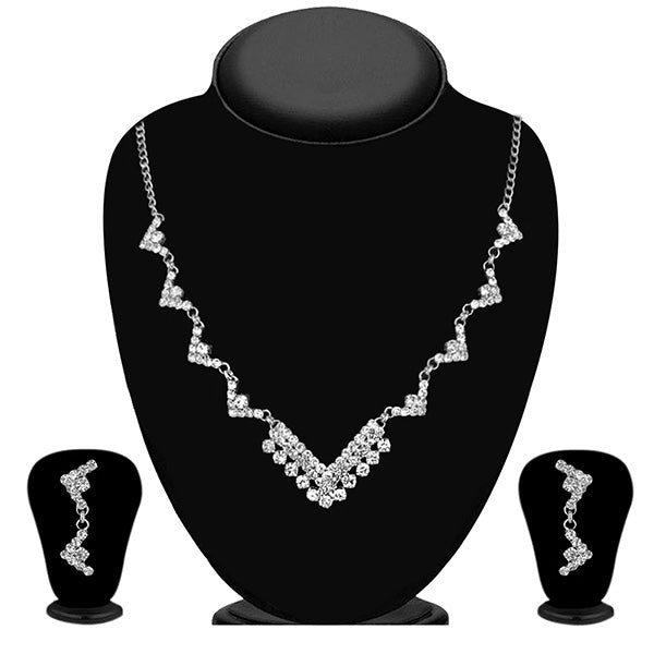 Eugenia Austrian Stone Rhodium Plated Necklace Set - ES