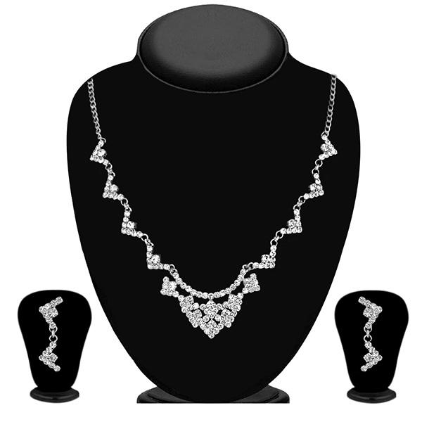 Eugenia Silver Plated Austrian Stone Necklace Set - NB