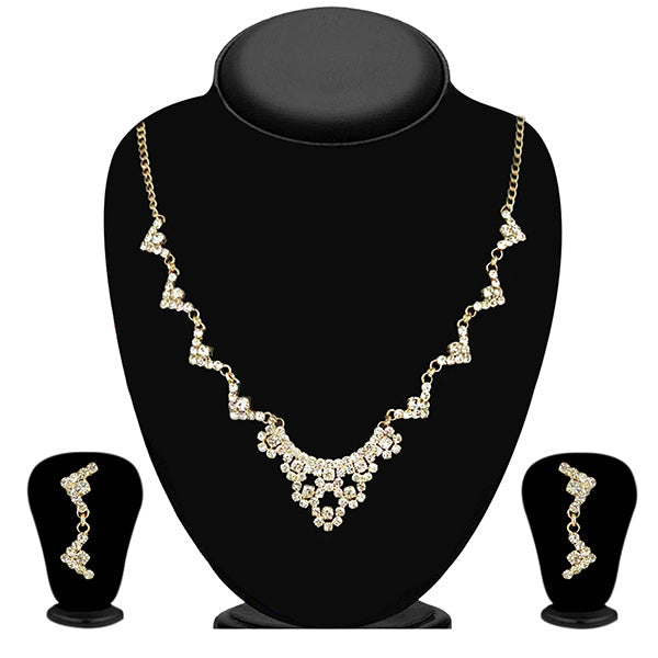 Eugenia Austrian Stone Gold Plated Necklace Set - ES