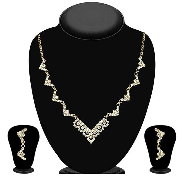 Eugenia Zinc Alloy Gold Plated Austrian Stone Necklace Set - NB